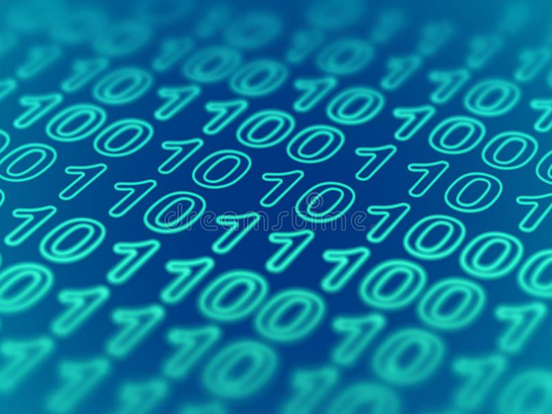 Cyberspace ou conceito grande dos dados Proteção de dados: fixe transferência de informação ilustração stock