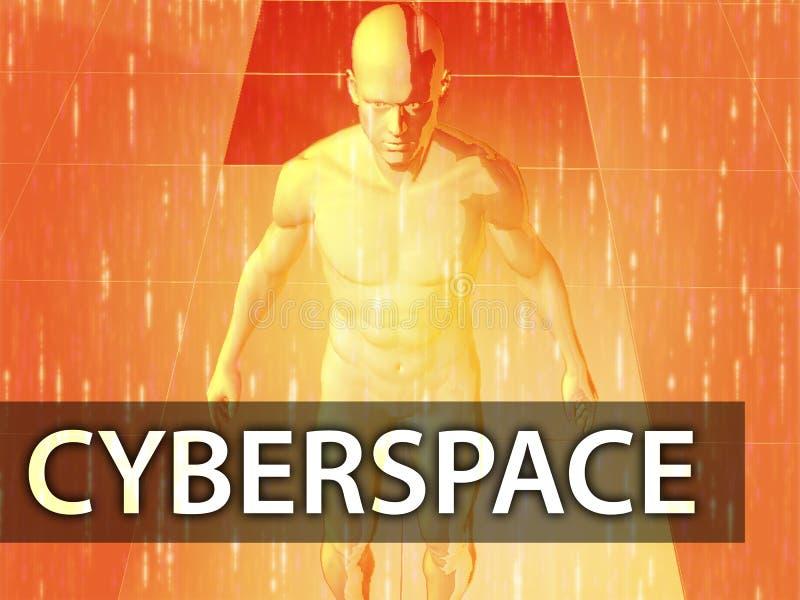 cyberspaceillustration vektor illustrationer