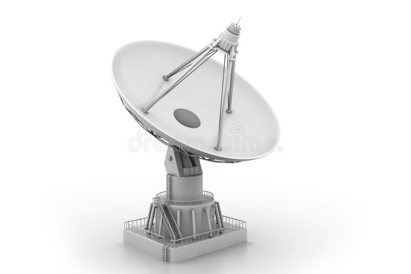 cyberspacen för kommunikationen 3d framför satelliten vektor illustrationer