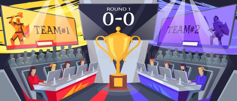 Cybersport drużyny Turniejowa Wektorowa ilustracja royalty ilustracja