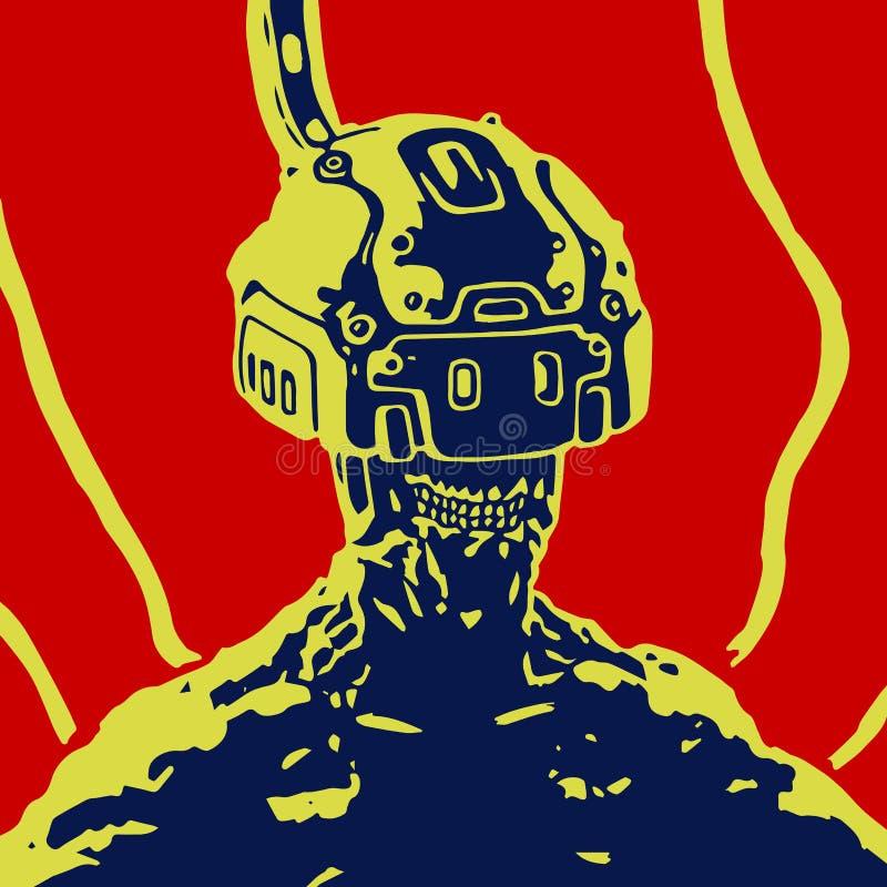 Cybersport Hełm rzeczywistość wirtualna również zwrócić corel ilustracji wektora royalty ilustracja