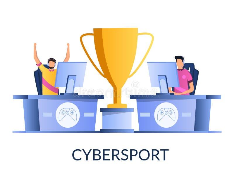 Cybersport-Vektorkonzept für Netzfahne, Websiteseite stock abbildung