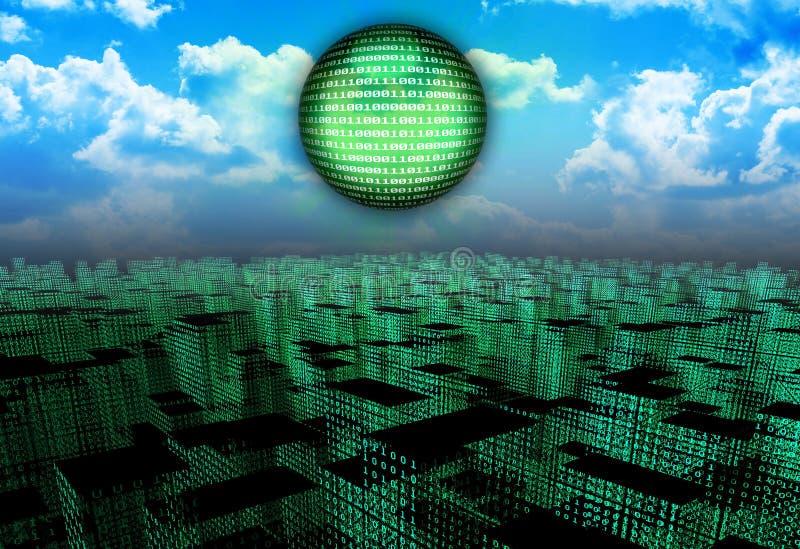 Cyberstadt lizenzfreie abbildung