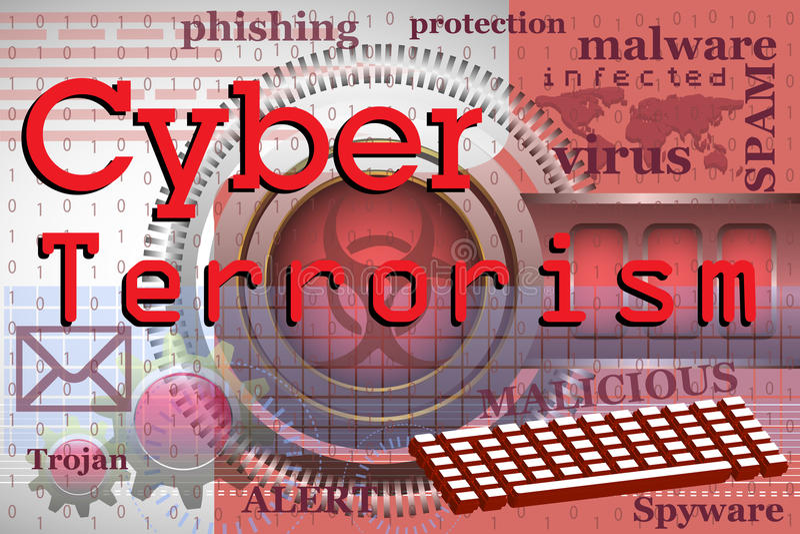 Cyberterrorisme royalty-vrije illustratie