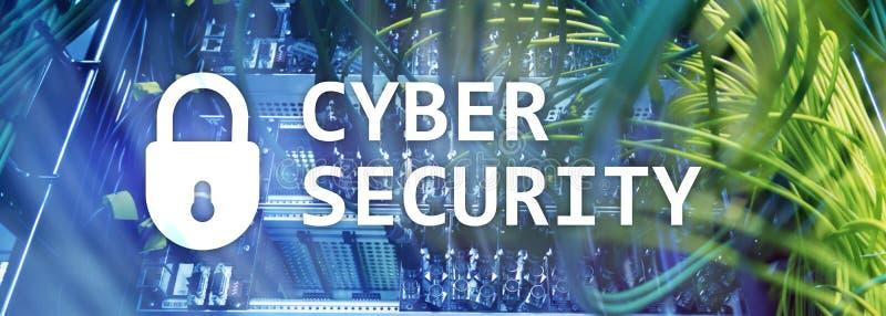 Cyberveiligheid, gegevensbescherming, informatieprivacy Internet en technologieconcept royalty-vrije illustratie