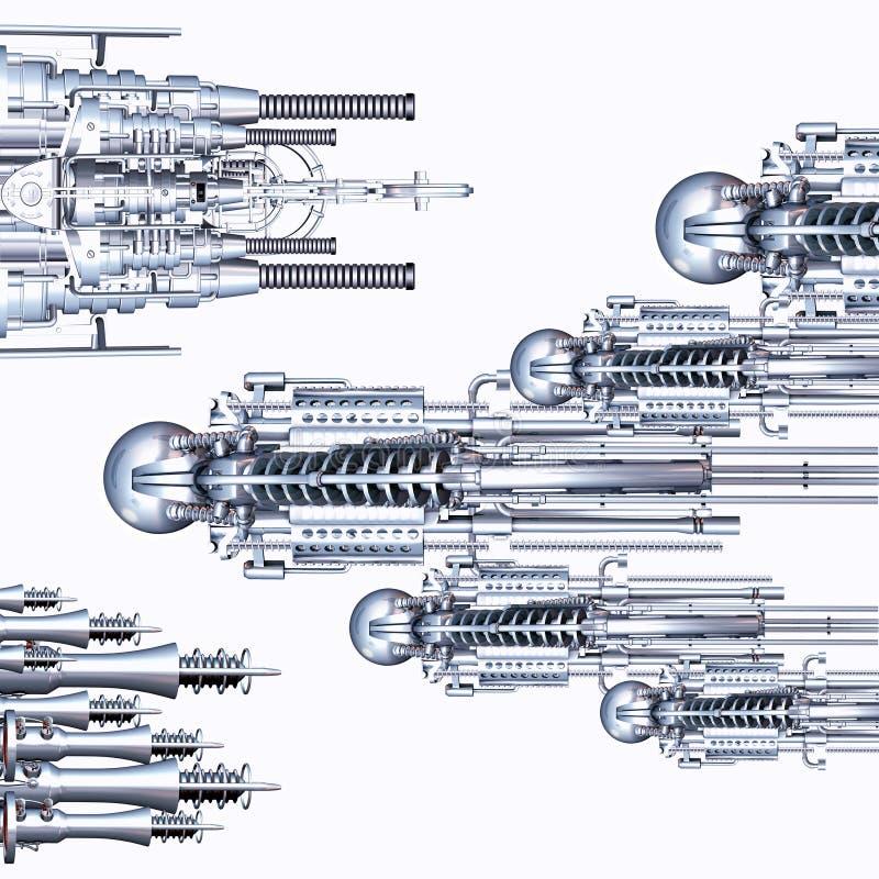 Cyberwar vektor illustrationer