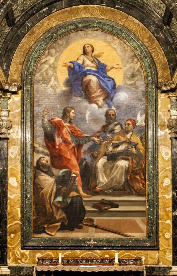 Cybo kapell, Santa Maria del Popolo Church rome italy royaltyfri bild