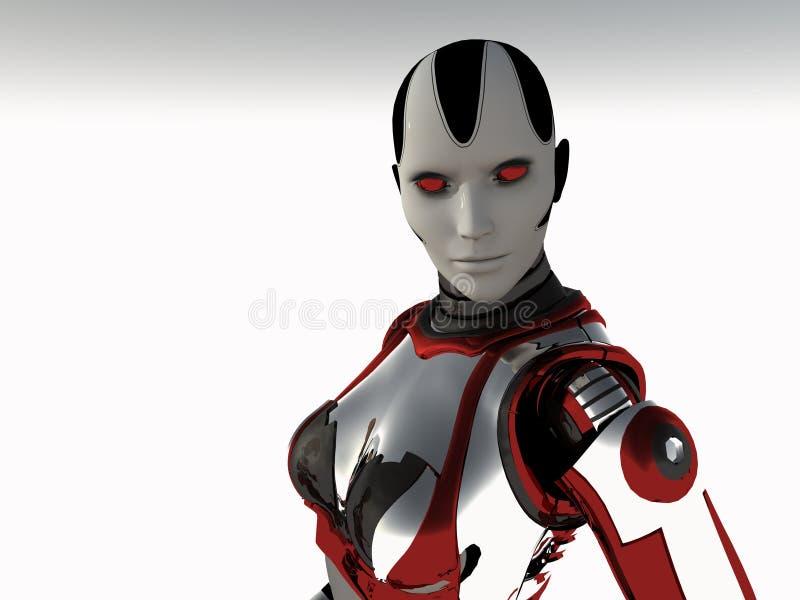 cyborg γυναίκα απεικόνιση αποθεμάτων