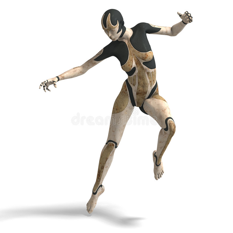 cyborg θηλυκό απεικόνιση αποθεμάτων