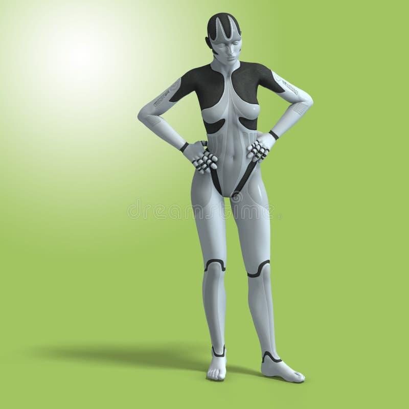 cyborg θηλυκό διανυσματική απεικόνιση
