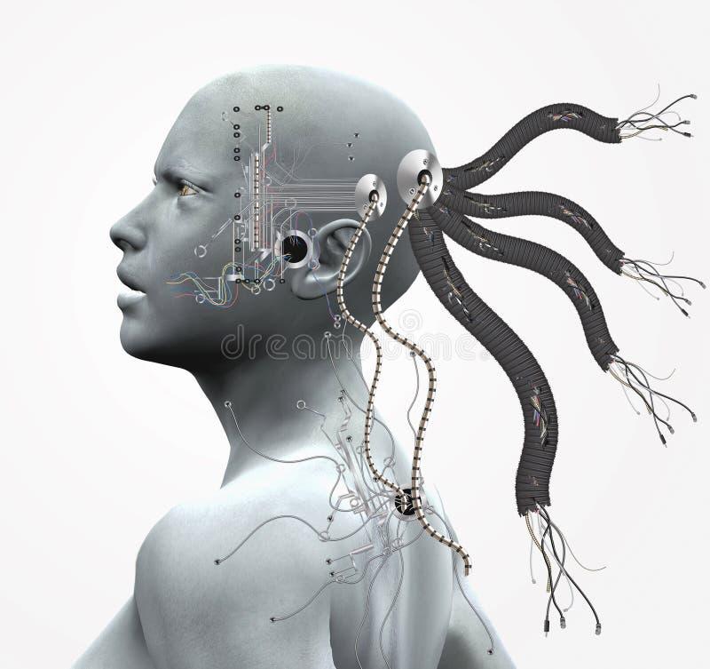 Cyborg stock de ilustración