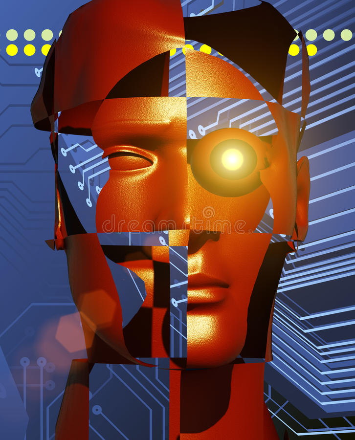 Cyborg illustration stock