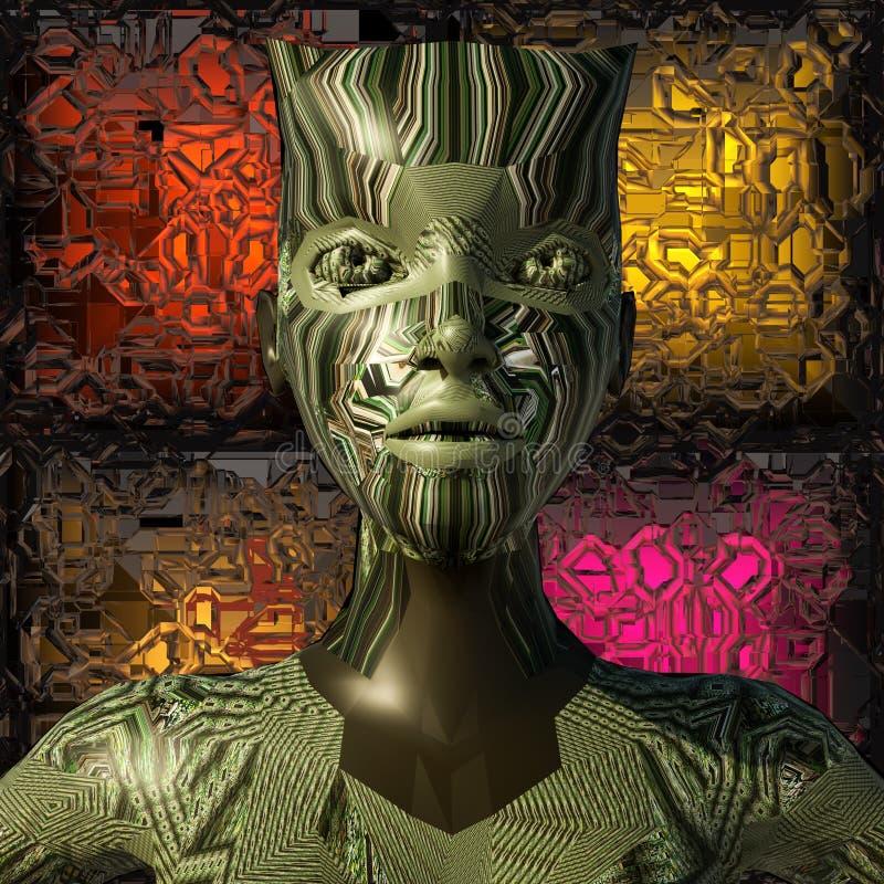 Download Cyborg stock illustration. Illustration of cyber, dark - 24655796