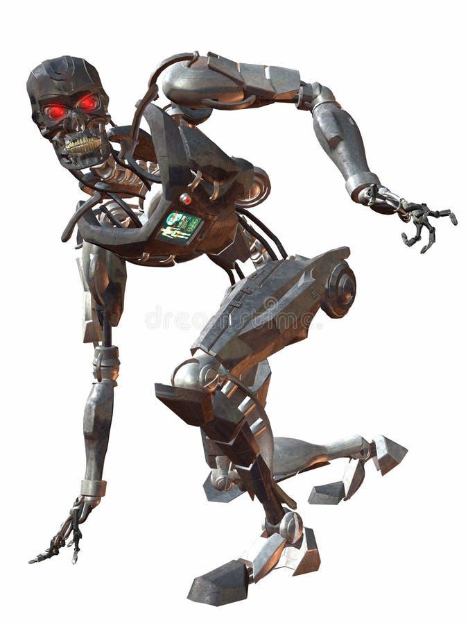 Cyborg 3000-Crouch illustration stock