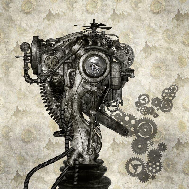 Cyborg ilustração royalty free