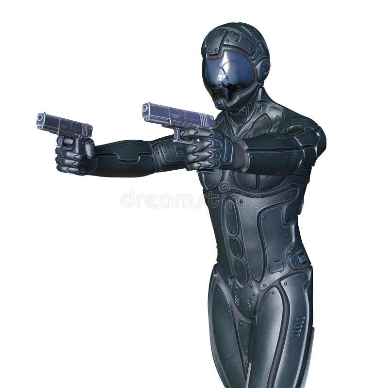 cyborg arkivfoton