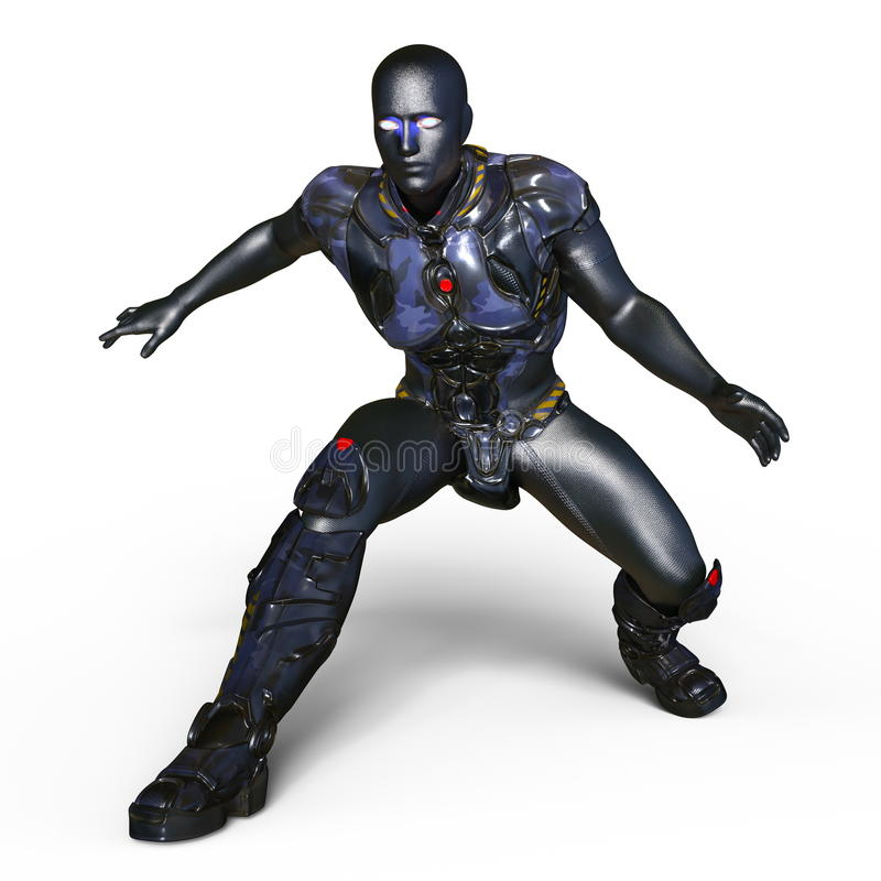 cyborg ilustracji