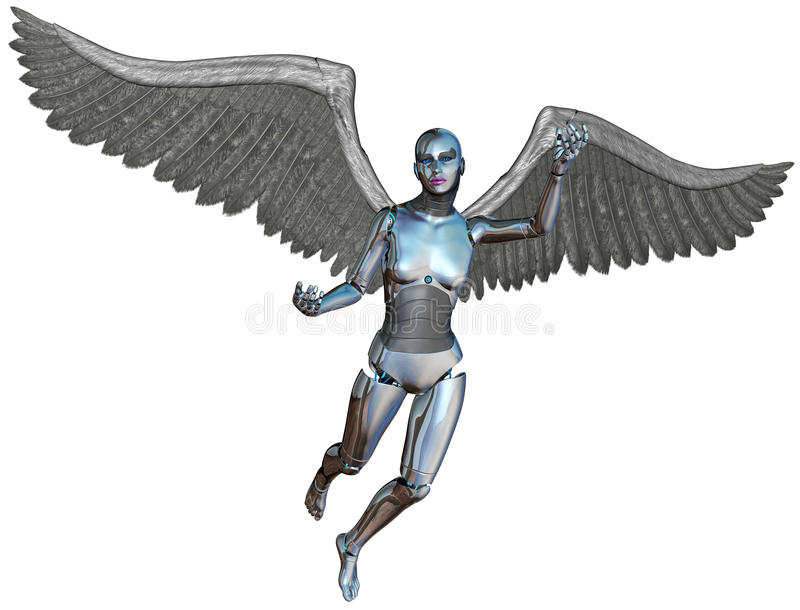 Cyborg Angel Isolated de Android del robot libre illustration