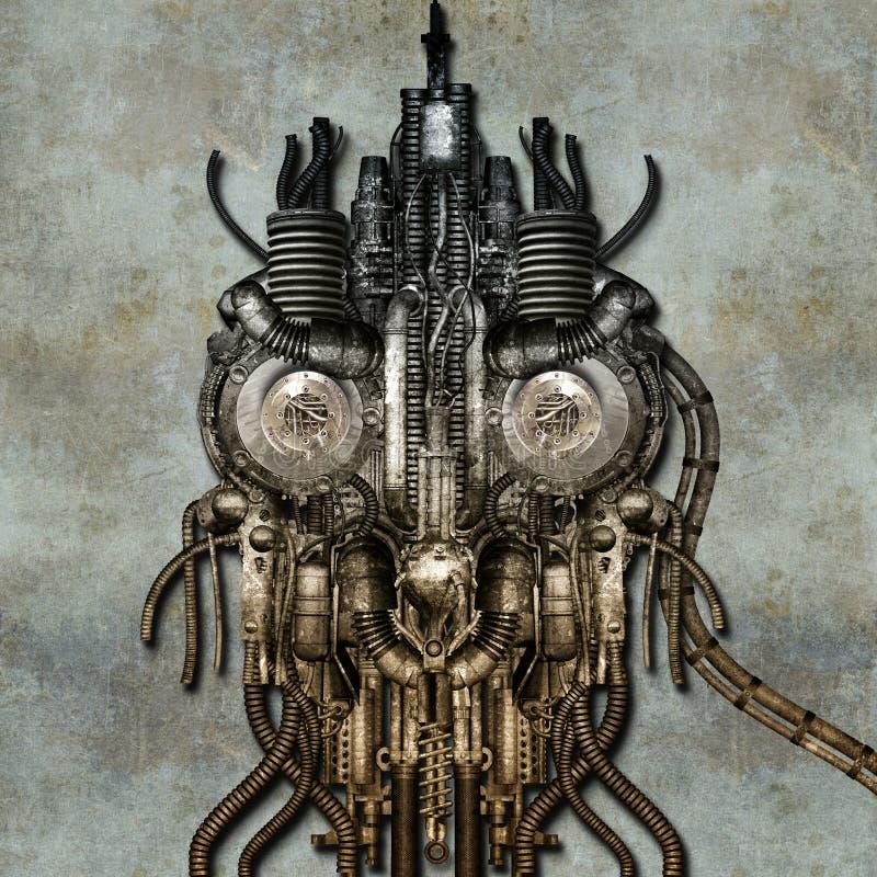Cyborg antique illustration de vecteur