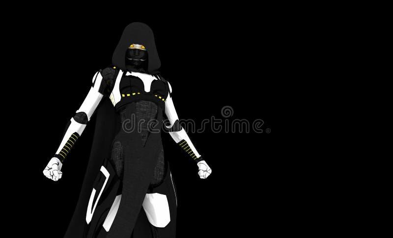 Cyborg assassin character royalty free stock photo