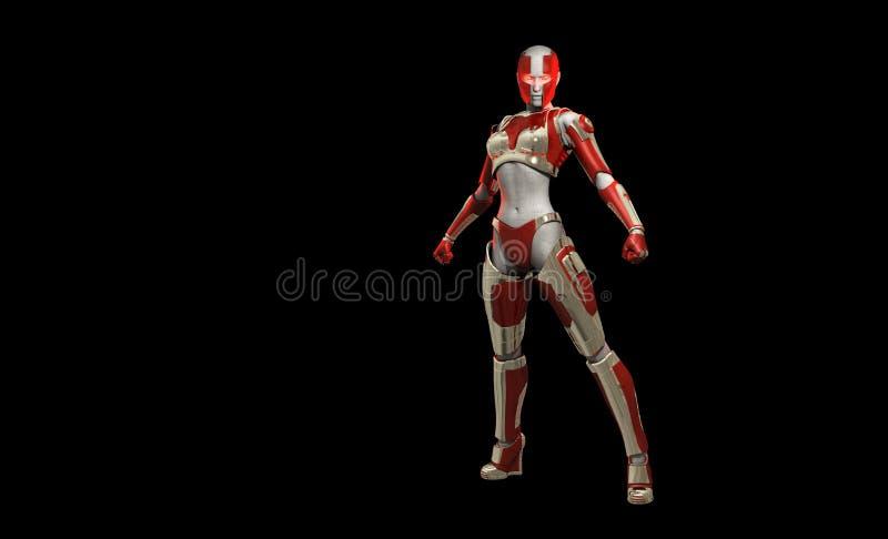 Cyborg Character Stock Photo
