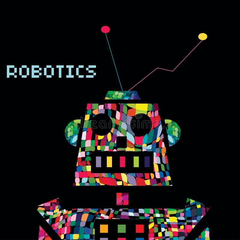Cyborg coloré de guerrier de robot Vecteur ENV 10 illustration de vecteur