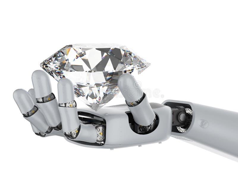 Cyborg com diamante ilustração do vetor