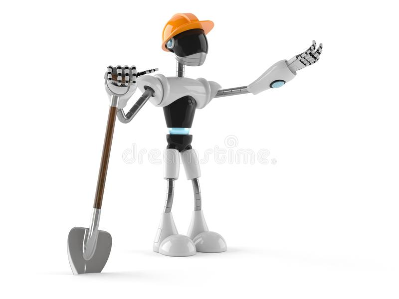 Cyborg con la pala libre illustration