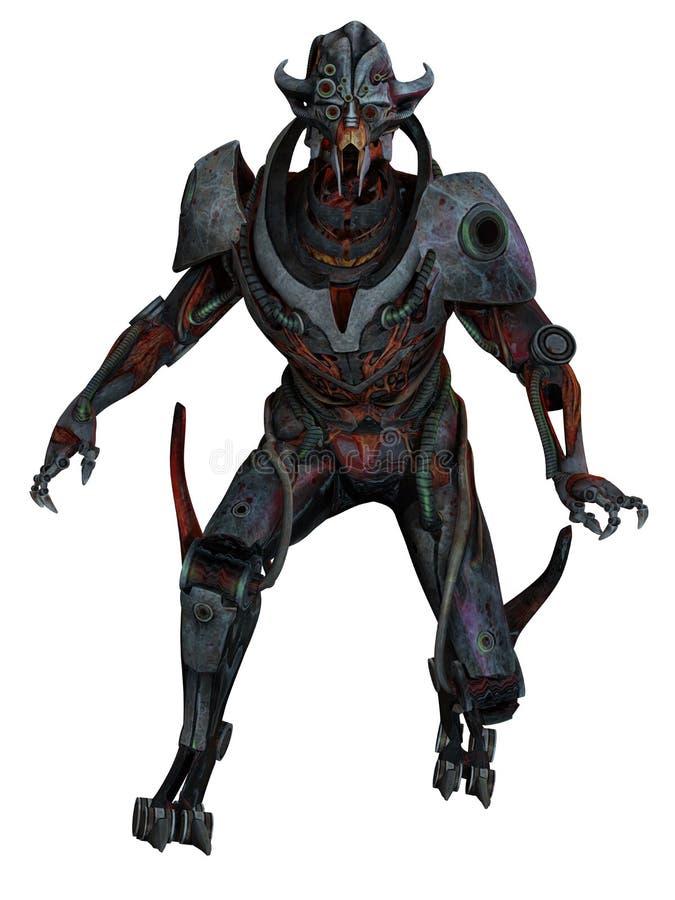 Cyborg 4. 3D illustration of a scary Cyborg vector illustration