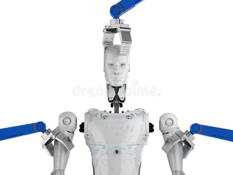 Cyborg da construção do robô ilustração royalty free
