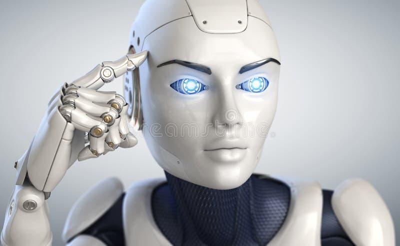Cyborg de pensamiento libre illustration