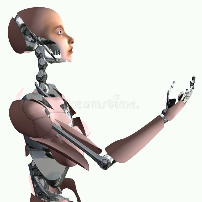 Cyborg, der Angebot bildet