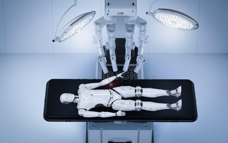 Cyborg di ai di manutenzione della chirurgia del robot royalty illustrazione gratis