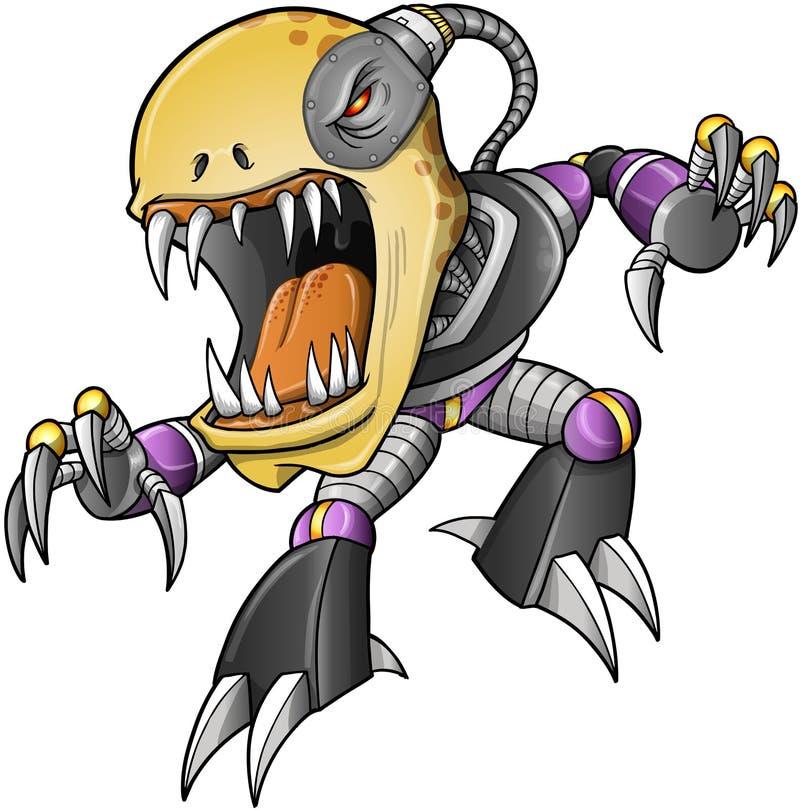 Cyborg diabolico dei Undead delle zombie royalty illustrazione gratis