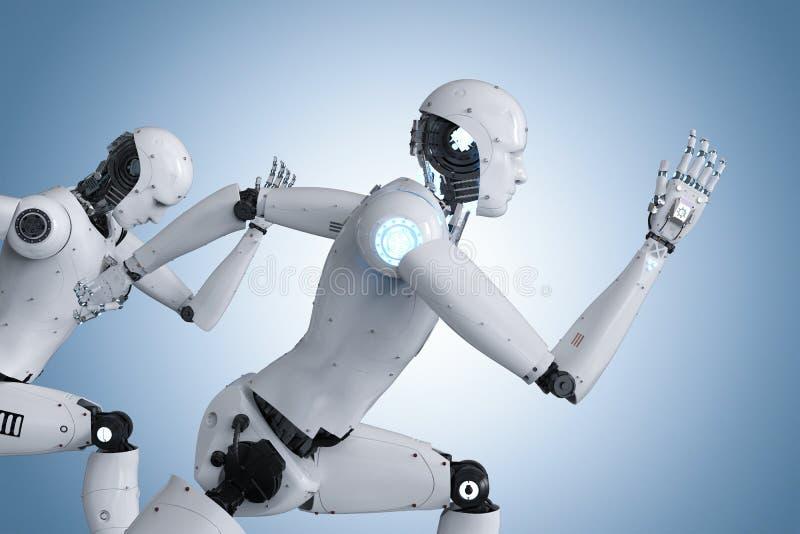 Cyborg die snel lopen