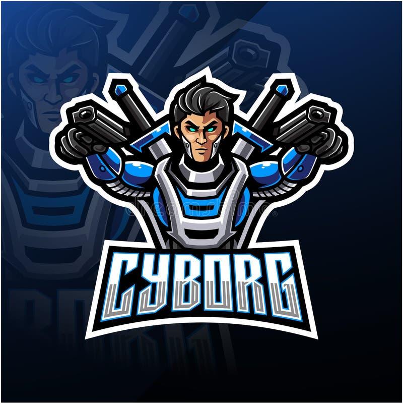 Free Cyborg Esport Mascot Logo Design Stock Photography - 161137742