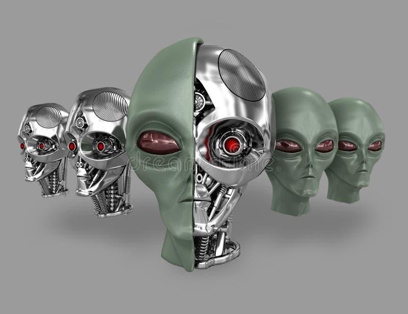 Cyborg estrangeiro 5 ilustração royalty free