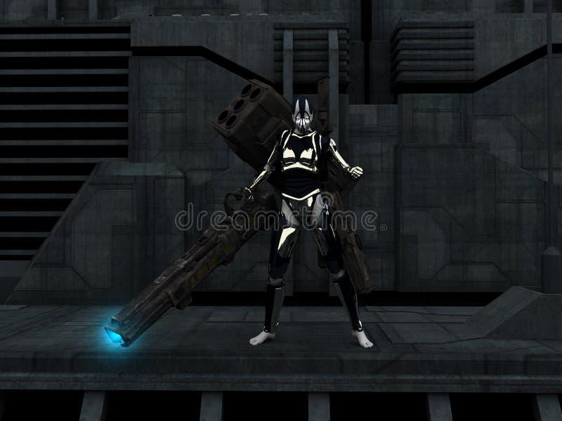 Cyborg Female Stock Image