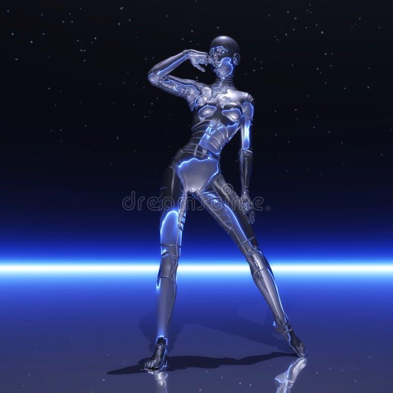 Cyborg femenino ilustración del vector