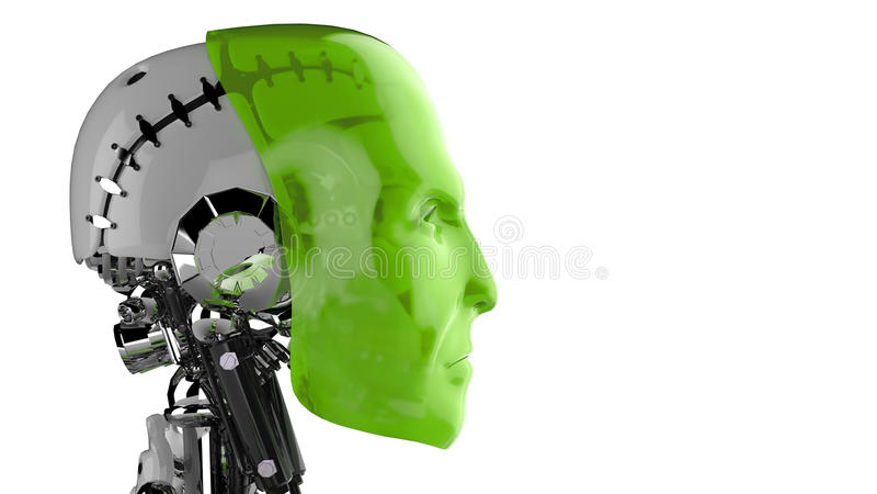 Cyborg futurista imagenes de archivo