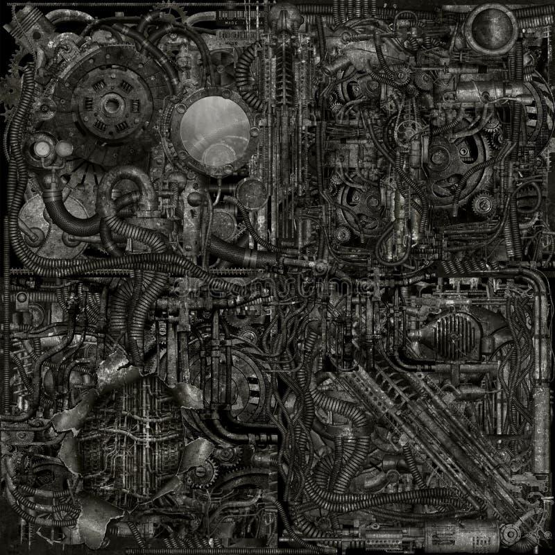 Cyborg grunge Teile lizenzfreie abbildung