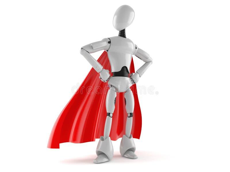 Cyborg hero. Isolated on white background royalty free illustration