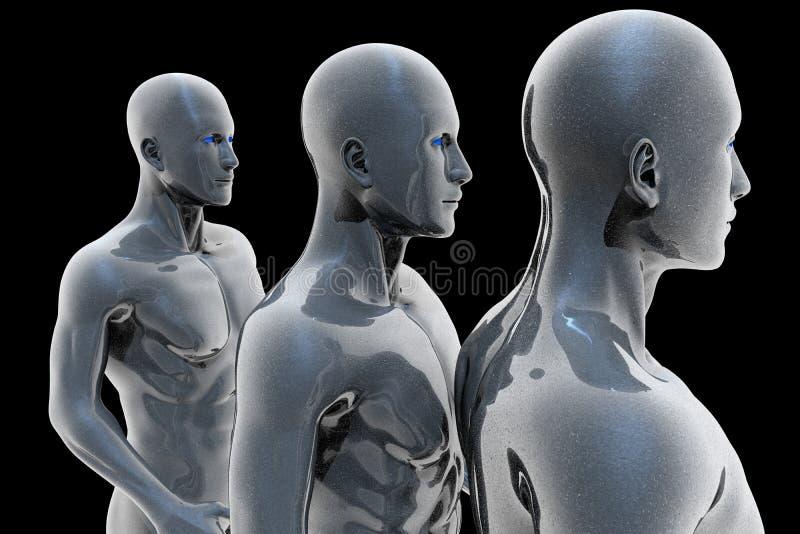 Cyborg - homem e máquina - futuro ilustração royalty free