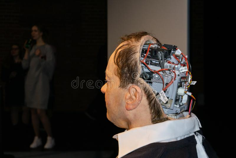 Cyborg, klon, robotandroid och konstgjort manbegrepp arkivfoton