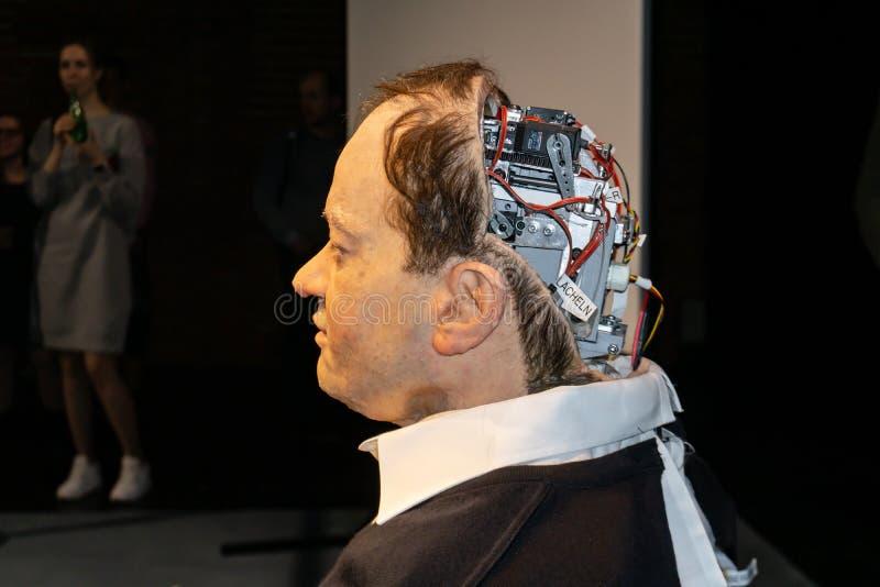 Cyborg, klon, robotandroid och konstgjort manbegrepp arkivbilder