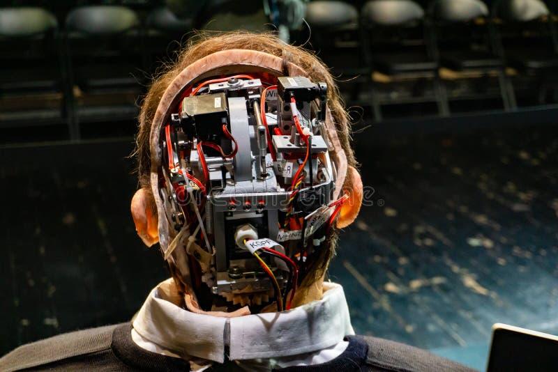 Cyborg, klon, robotandroid och konstgjort manbegrepp royaltyfria foton
