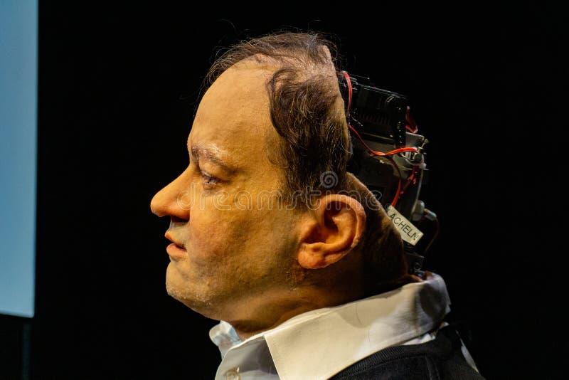 Cyborg, klon, robotandroid och konstgjort manbegrepp fotografering för bildbyråer