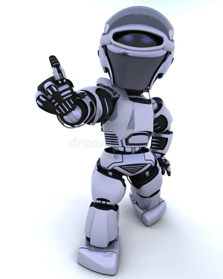 Cyborg lindo de la robusteza stock de ilustración