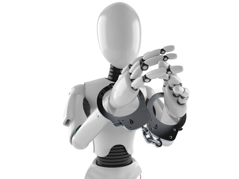 Cyborg mit den Handschellen vektor abbildung