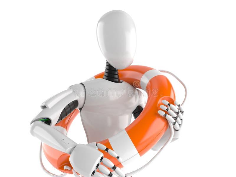Cyborg mit Lebenboje stock abbildung